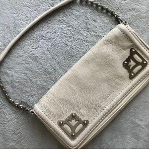Michael Kors White Leather Evening Shoulder Bag